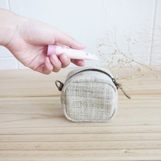 Cosmetic Bags Little Tan S Hand-woven Hemp Natural Color