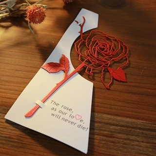 [Desk + 1] Rose Bookmark - Red (15 group buy)