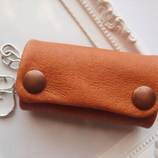 [Classic Camel] pig leather soft key case [MTO] Brown Leather