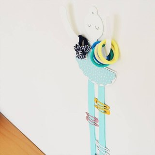 Ballet hair accessories storage hook (blue green)