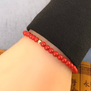 The birth year cinnabar bracelet