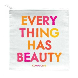 Everything Has Beauty zipper bag