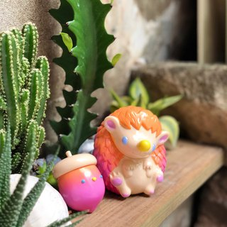 Acorn & Nutty - Tropical Sunset - Original Art Toy Hedgehog