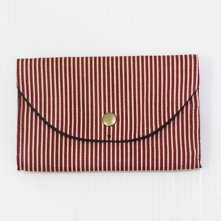 S, HU - Second Edition Small Block Multi-layer Coin Purse (Red Stripe)