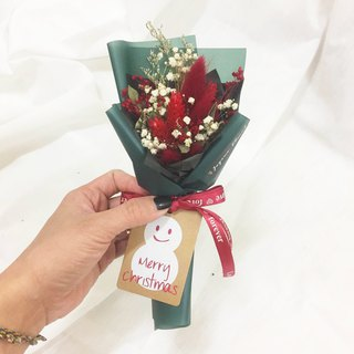 Christmas happy emerald texture dry bouquet gift box / Christmas gift bouquet birthday gift