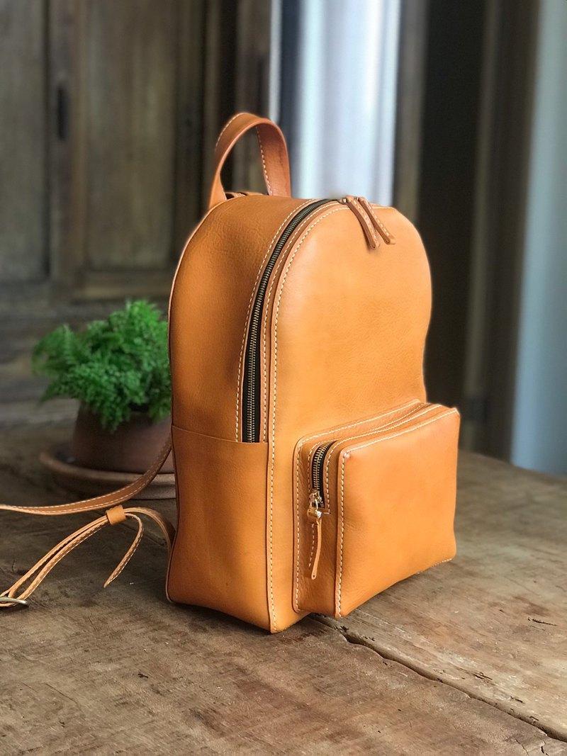 【旅行後背包】植鞣皮革/ 顏色客製