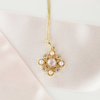 CROSS 9K Gold Pearl Mother Pendant