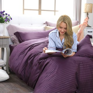 (Increase) Natural Pure Temptation Purple - Silver Fiber 60 Tencel Dual Bed Bed Pack 100%