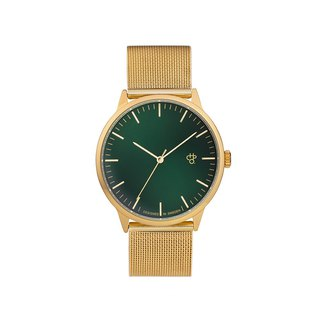 Swedish Brand - Nando Collection Gold Green Dial - Golden Milan with Adjustable Watch