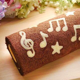 Musical note melody cake roll