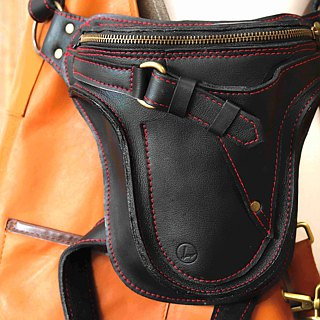 Liang beam leather art] heavy machine pockets / vegetable tanned leather / leather / handmade custom