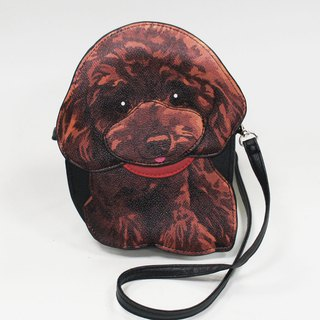 Poodles with a red collar, childlike styling crossbody bag/animal bag - Cool Village