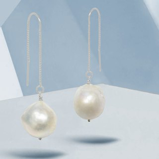 Edith & Jaz • Baroque Pearl Silver Earrings