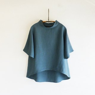 French linen pullover Antique green