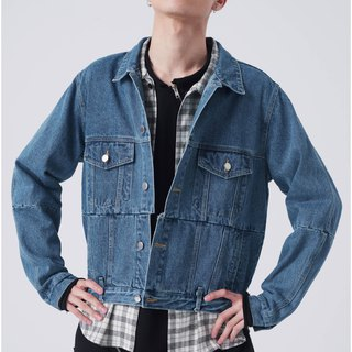 Double pocket denim jacket #9190