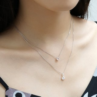 Glare Moonstone Clavicle Chain VISHI S925 Sterling Silver Inlaid Natural Blue Moonlight Crystal Necklace June