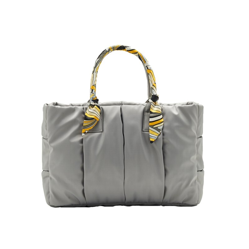 VOUS mother bag classic series of Paris Tower Ash in the money + Chain City scarf