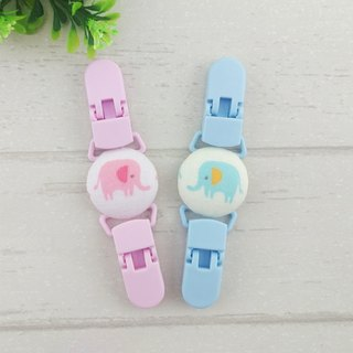 Pastel elephant 2 color optional. Handkerchief clip / universal clip / toy clip / double head clip