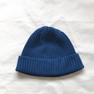 Indigo dyed Aizen - knitted cap cotton Cotton knit cap