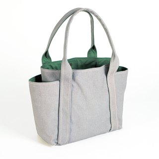 Magnetic button / washable canvas universal tool bag - gray (medium)