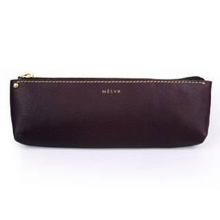[Minerva]|Pencil Case M|Zipper Pouch Silver Kraft
