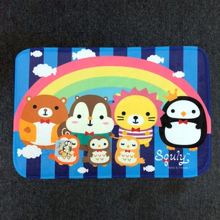 Squly & Friends Carpet (Rainbow with Blue Background) - G009SQH