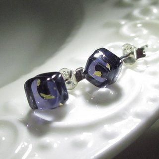 × | Gold Foil Series | × Glass Earrings - STX Violet - [] type