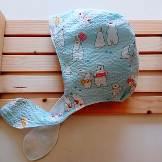 Polar Bear Stereo Tailored Bandage Baby Earmuffs Moon Gift Tie Baby Hat