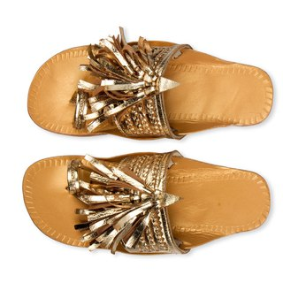 CHANDAMAMA Leela Gold Slipper