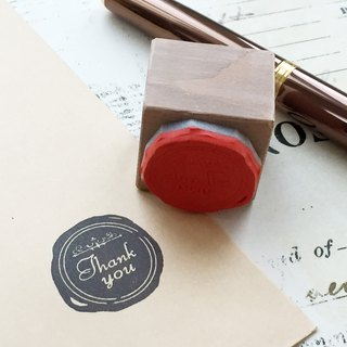 【Thank you】 Sealing style stamp