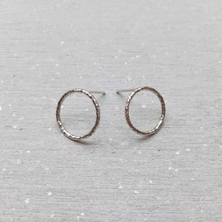 【Hongsheng Jewelry】 Geometric Circle 925 sterling silver earrings