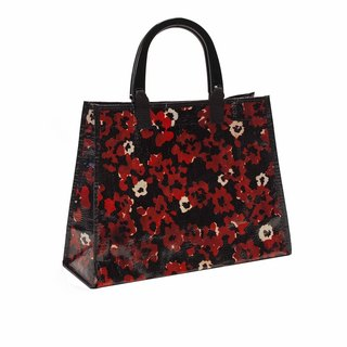 Blue Q handle big bag - Poppies Poppies