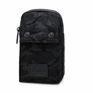 [THE DUDE]Darter Lightweight Pocket Waist Bag - Black Camouflage