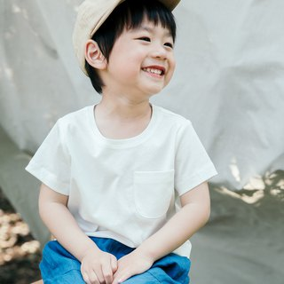 White cotton long-staple cotton children's short-sleeved T-shirt breathable round neck summer plain top Japanese style