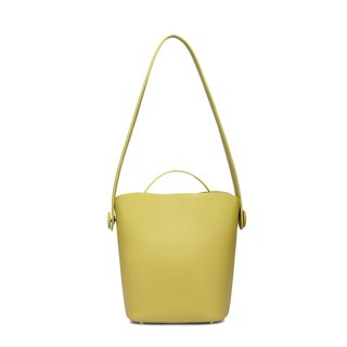Yellow cowhide bucket honey color tote bag two in one detachable independent mother bag large capacity shoulder bag
