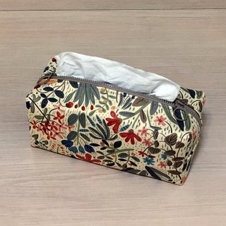 (Dual Purpose) Colorful Flowers_tissue cover/ zipper bag