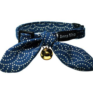 [AnnaNina] Pet Dog Collar Clear Wave Kelly Towel S~L