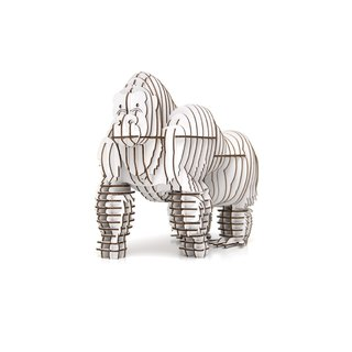 Moze Orangutan 3D Handmade DIY Home Decoration White