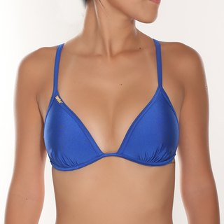 Treasure blue bikini top (concentrated cup)