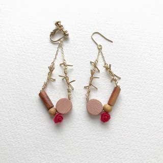 Frida  clip-on or pierced earrings