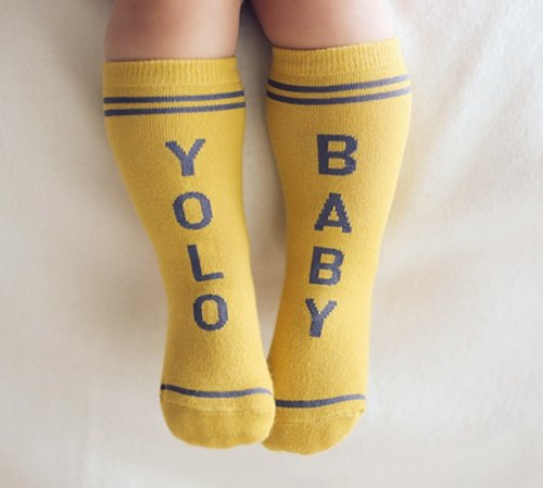Happy Prince English word baby socks Korean system