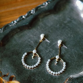 COR-DATE- Semiotics - Round Pearl Earrings