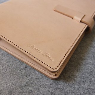 YOURS handmade leather B5-SIZE jumper style loose-leaf notebook leather colors + white line