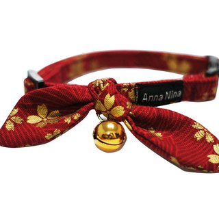 [AnnaNina] pet dog collar love cherry red Kelly towel S~2L