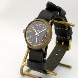 "Handmade clock ""Aromr-MB-ML"" Men's Brass NATO belt (370 BKNATO)"