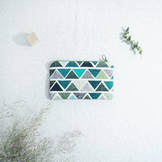 [Green Family Series] Geometric Triangle Pencil Case