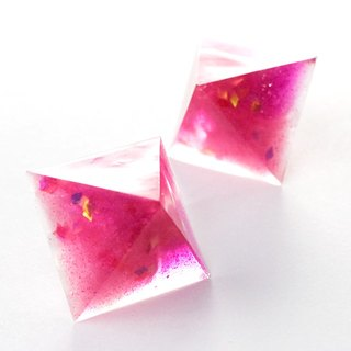 Pyramid Earrings (Pink Universe)