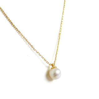 Ficelle | handmade brass natural stone necklace | pearl pendant pendant necklace