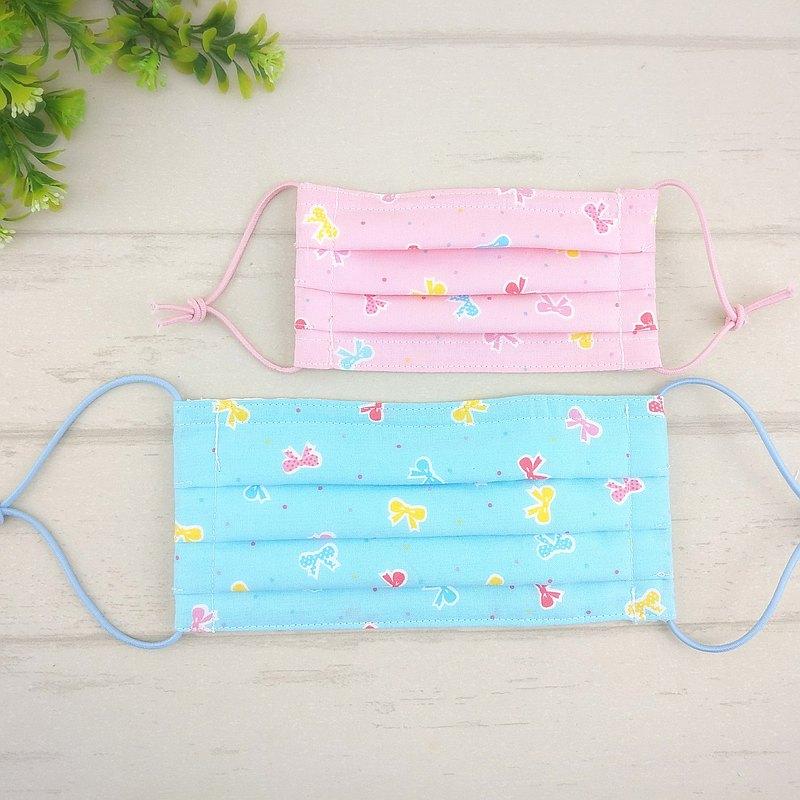 糖果蝴蝶結-2色可選。有壓條有開口棉質布口罩