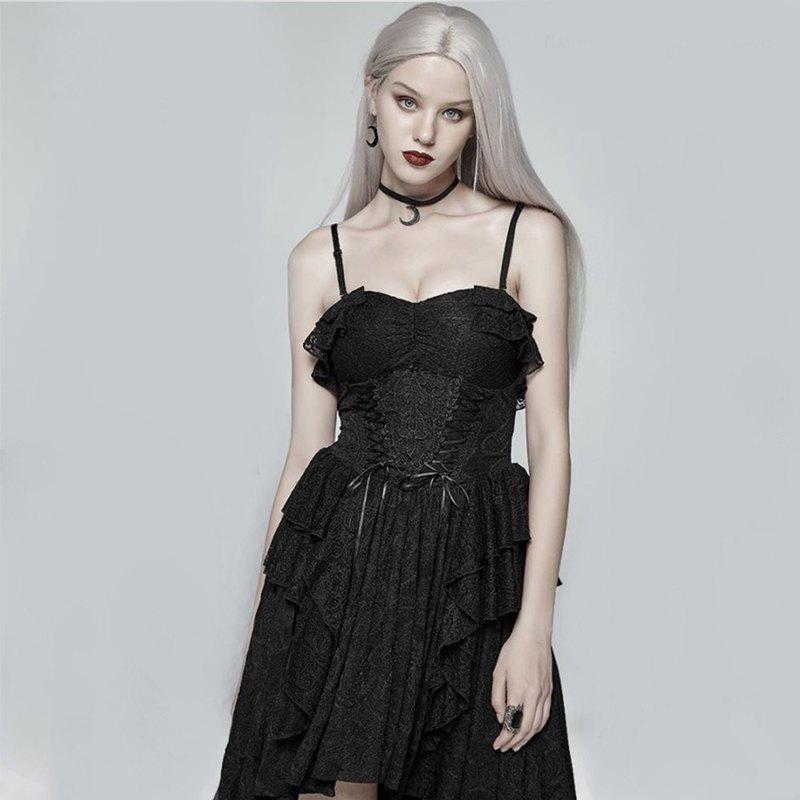 哥德祕境抹胸式連衣裙